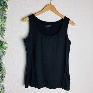 Charter Club Black Silky scoop neck Tank Sz M/L